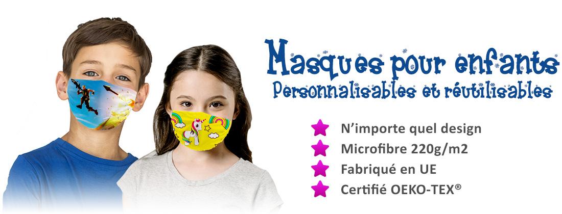 Masques pour enfants personnalisé
