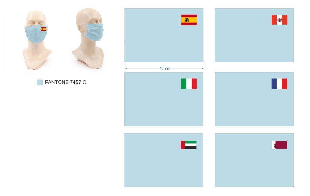 Masque de protection personnalisé drapeaux