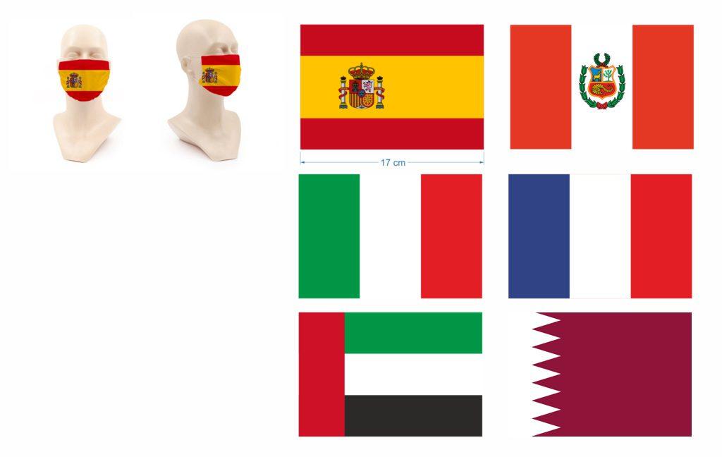 Masque personnalisé drapeaux